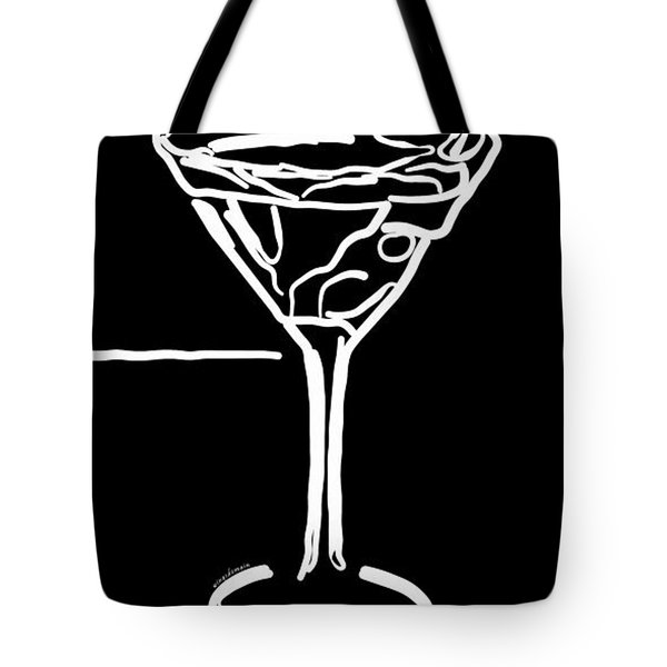 Do Not Panic - Drink Martini - Black Tote Bag by Wingsdomain Art and Photography