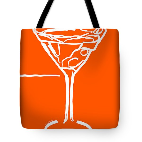 Do Not Panic - Drink Martini - Orange Tote Bag by Wingsdomain Art and Photography