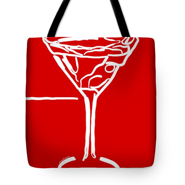 Do Not Panic - Drink Martini - Red Tote Bag by Wingsdomain Art and Photography