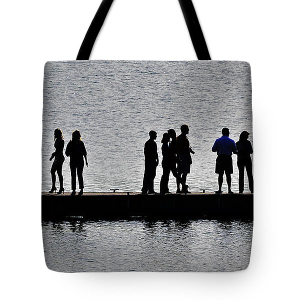 Dock Party Tote Bag by Lisa Plymell