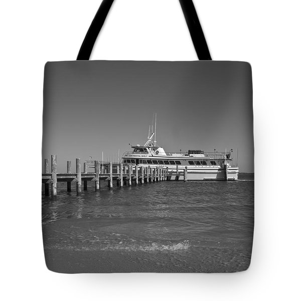 Docking for a Moment Tote Bag by Betsy C  Knapp