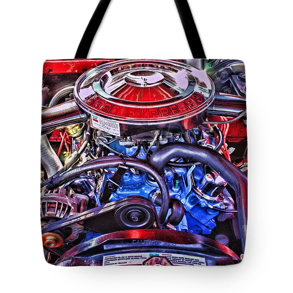 Dodge Motor Hdr Tote Bag by Randy Harris