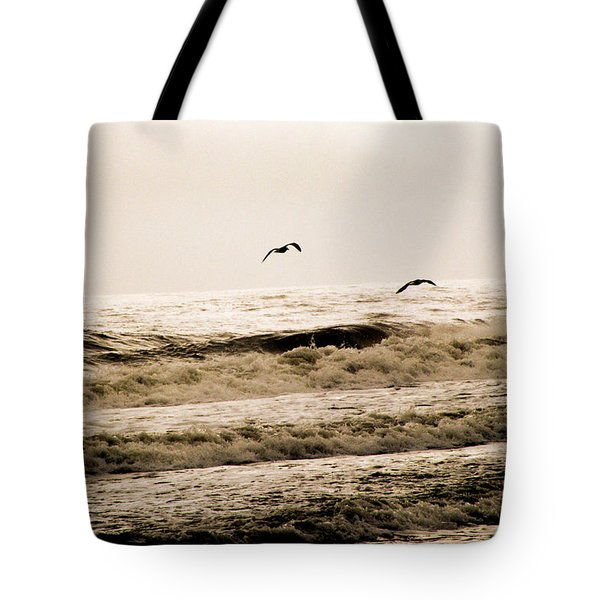 Dodging The Waves Tote Bag by Trish Tritz