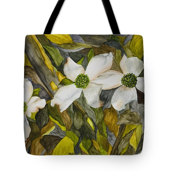 Dogwoods Tote Bag by Mary Ann King