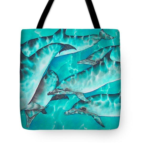 Dolphin Pod Tote Bag by Daniel Jean-Baptiste