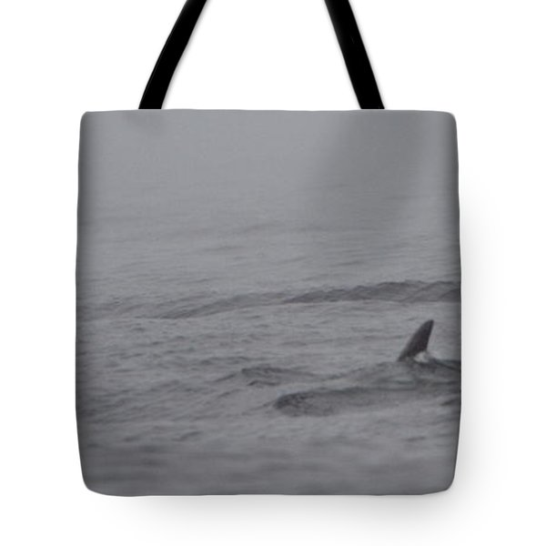 Dolphins In The Mist  Tote Bag by Bruce J Robinson