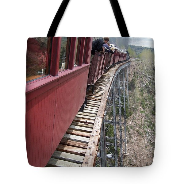 Don't Look Down Tote Bag by Luke Moore