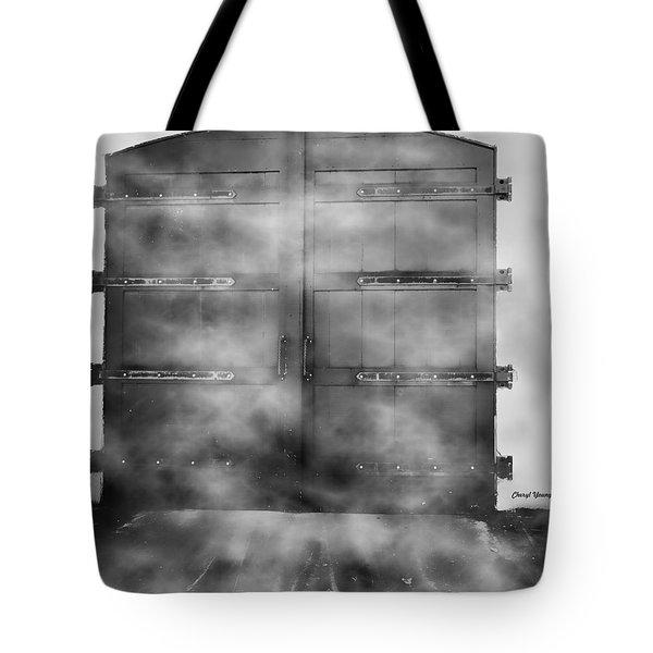 Door 3 Tote Bag by Cheryl Young