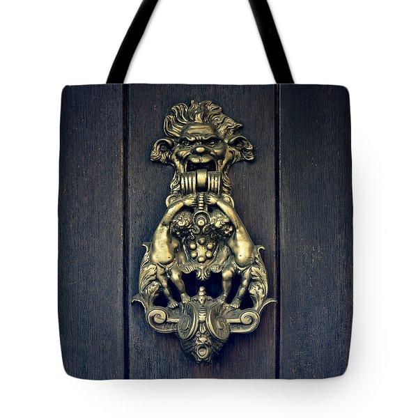 Door Knocker Tote Bag by Joana Kruse