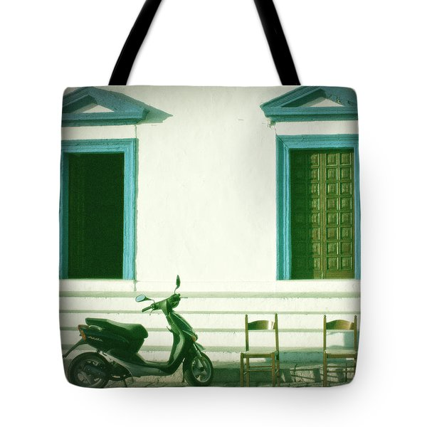 Doors And Chairs Tote Bag by Joana Kruse