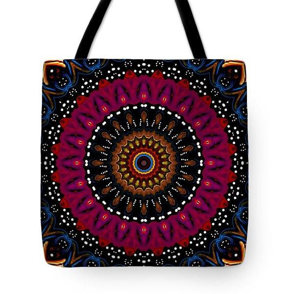 Dotted Wishes No. 5 Kaleidoscope Tote Bag by Joy McKenzie