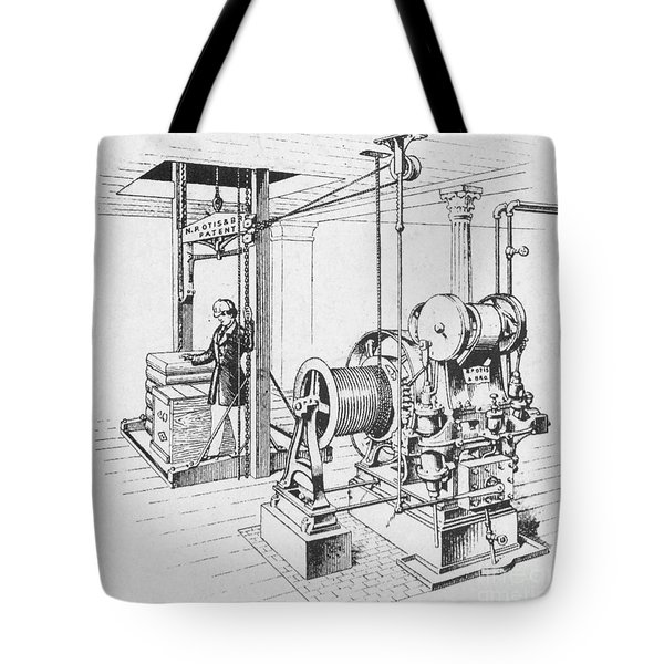 Double Oscillating Steam Engine Tote Bag by Science Source