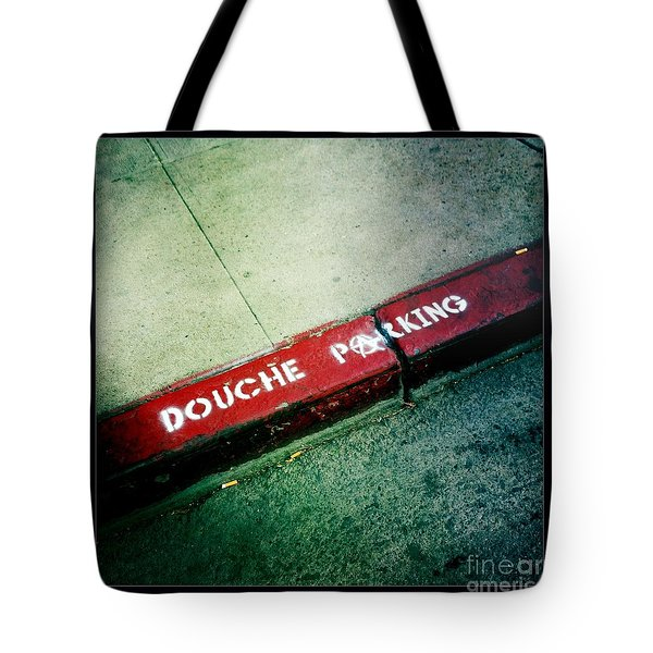 Douche Parking Tote Bag by Nina Prommer