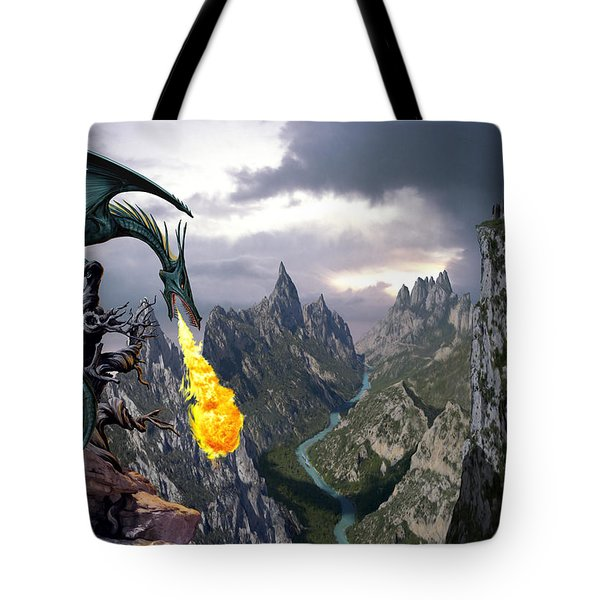 Dragon Valley Tote Bag by The Dragon Chronicles - Garry Wa
