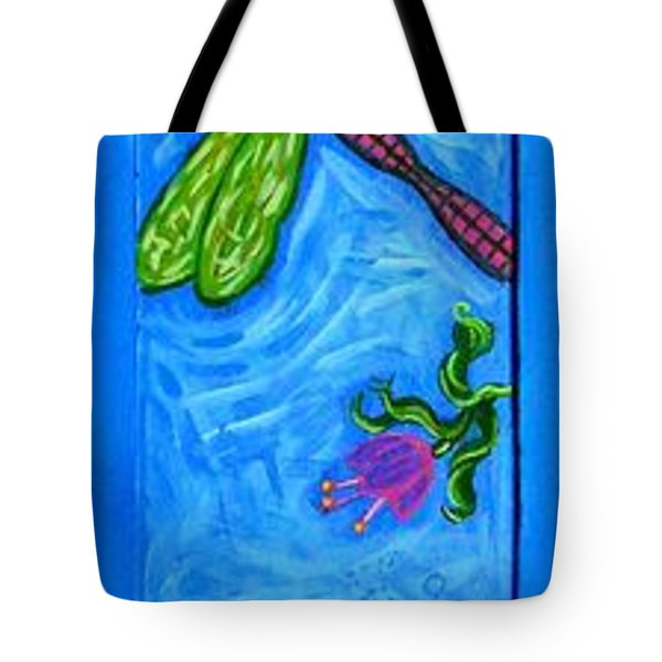 Dragonfly And Bee Tote Bag by Genevieve Esson