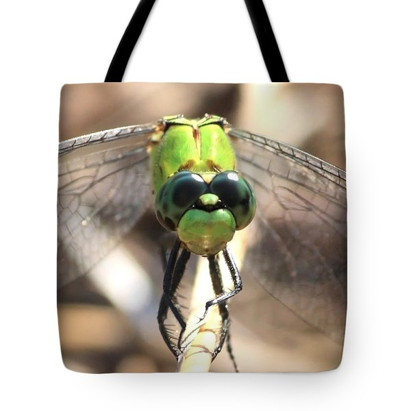 Dragonfly Perspective Tote Bag by Carol Groenen