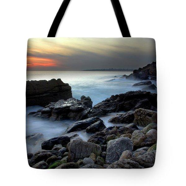 Dramatic Coastline Tote Bag by Carlos Caetano