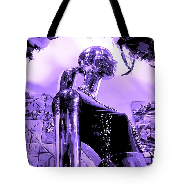 Dreams In Shades Of Purple Tote Bag by Kym Backland