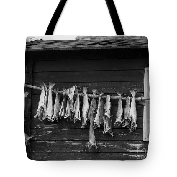 Dried Cod On A Line Tote Bag by Heiko Koehrer-Wagner