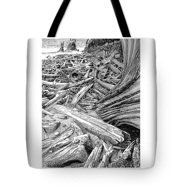 Driftwood Black Cat Tote Bag by Jack Pumphrey