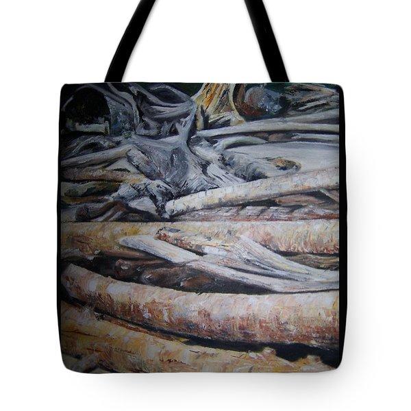 Driftwood Tote Bag by Joyce Reid