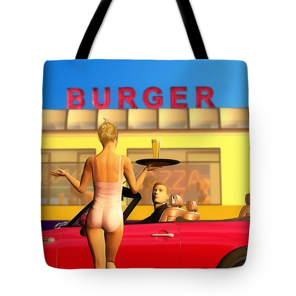 Drive-in Tote Bag by John Edwards