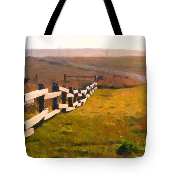 Driving Down The Lonely Highway . Study 1 . Painterly Tote Bag by Wingsdomain Art and Photography