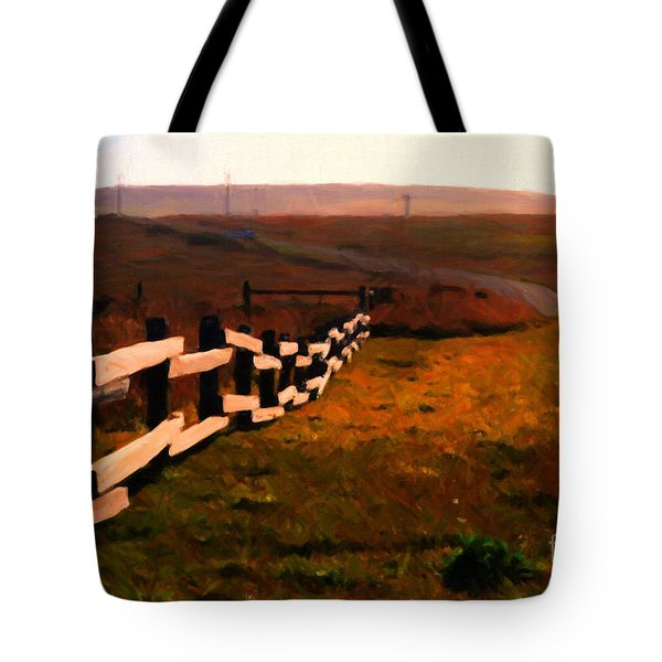 Driving Down The Lonely Highway . Study 2 . Painterly Tote Bag by Wingsdomain Art and Photography