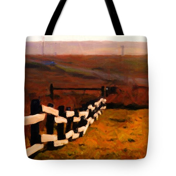 Driving Down The Lonely Road . Long Version Tote Bag by Wingsdomain Art and Photography