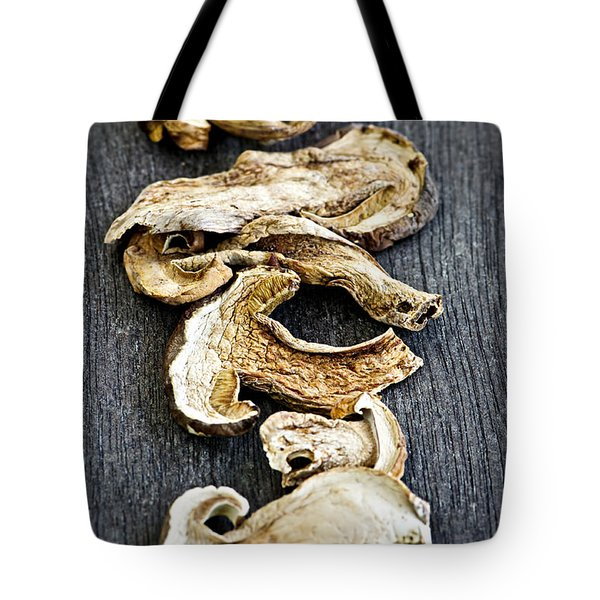 Dry porcini mushrooms Tote Bag by Elena Elisseeva