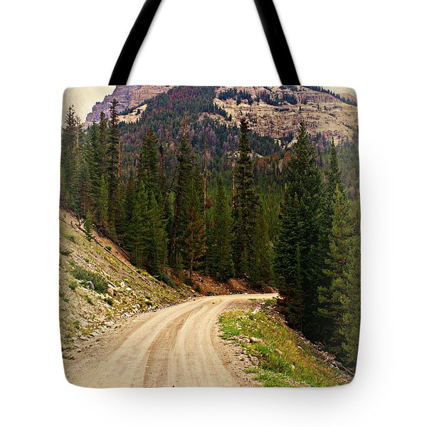 Dubois Mountain Road Tote Bag by Marty Koch