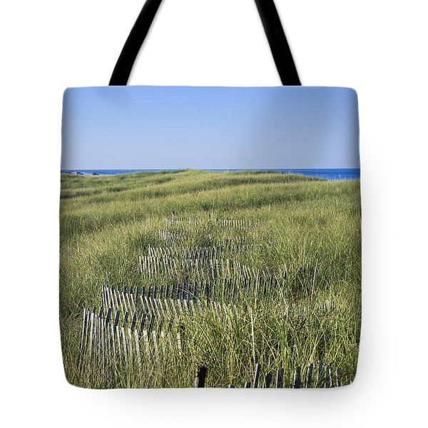 Dune Fence Tote Bag by John Greim