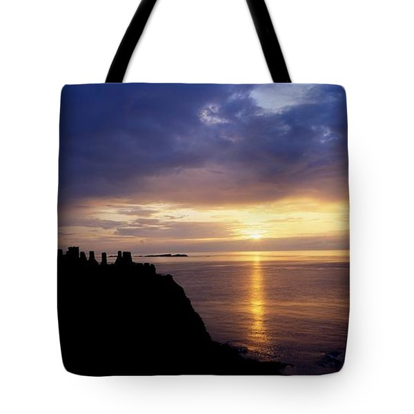Dunluce Castle At Sunset, Co Antrim Tote Bag by The Irish Image Collection