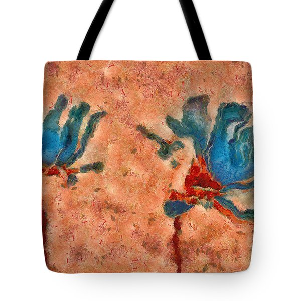 Duo Daisies - 02blt3dp1c Tote Bag by Variance Collections