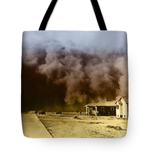 Dust Storm, 1930s Tote Bag by Omikron