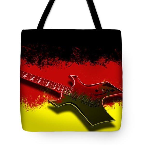E-Guitar - German Rock II Tote Bag by Melanie Viola