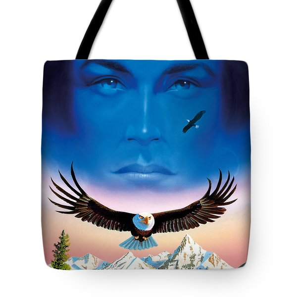 Eagle Mountain Tote Bag by MGL Studio - Chris Hiett
