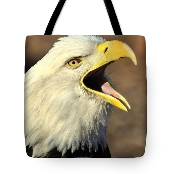 Eagle Squawk Tote Bag by Marty Koch