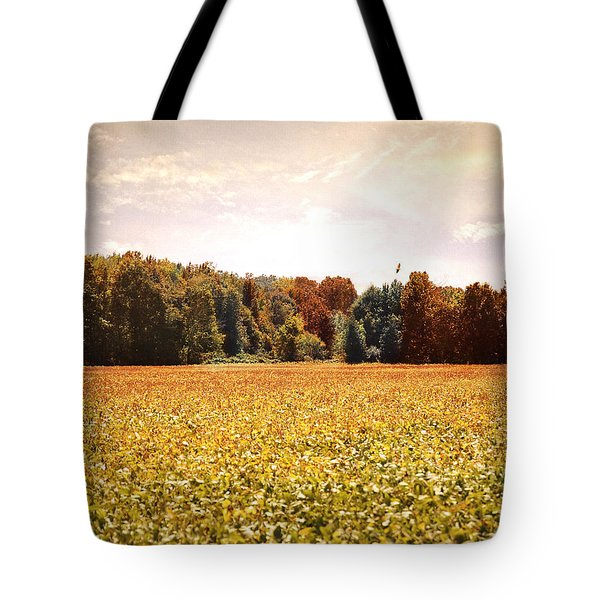 Early Autumn Harvest Landscape Tote Bag by Jai Johnson