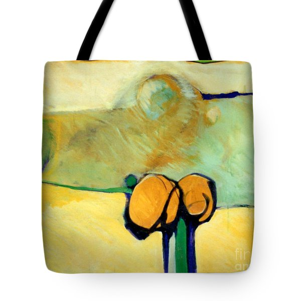 Early Blob 2 Jump Rope Tote Bag by Marlene Burns