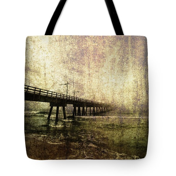 Early Morning Pier Tote Bag by Skip Nall