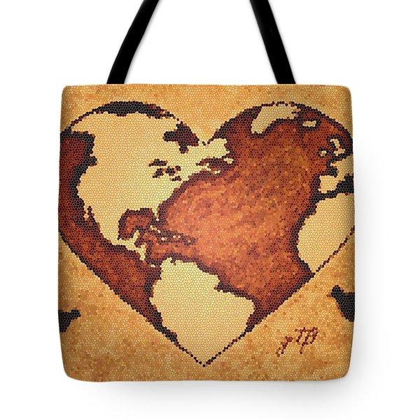 Earth Day Gaia Celebration Digital Art Tote Bag by Georgeta  Blanaru