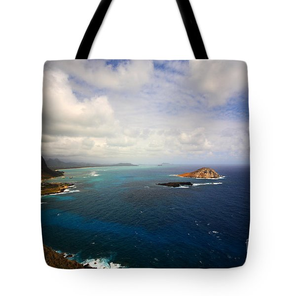 East Oahu Coastline Tote Bag by Cheryl Young