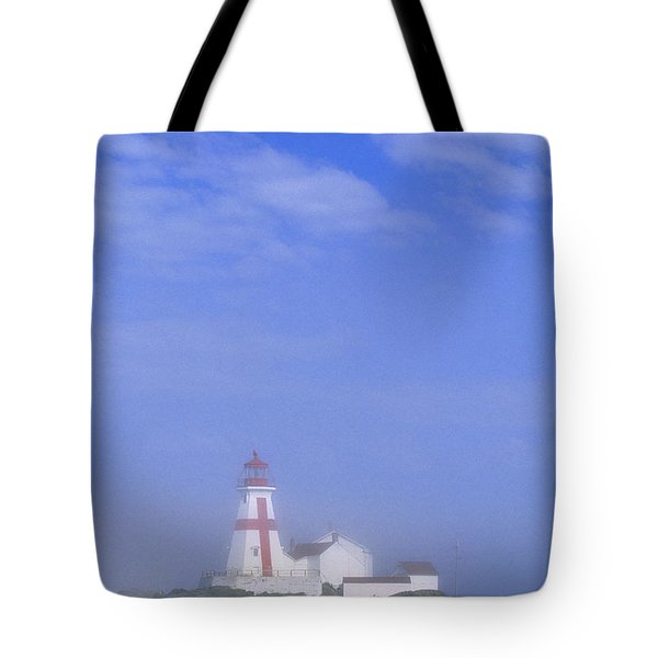 East Quoddy Lighthouse, Campobello Tote Bag by John Sylvester