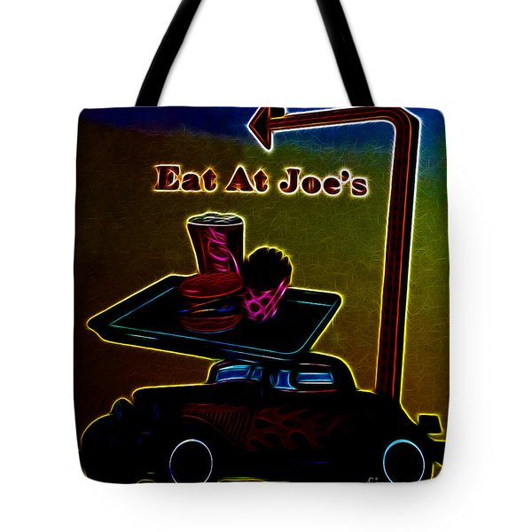 Eat at Joes Tote Bag by Cheryl Young