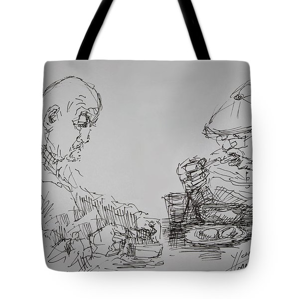 Eaters Tote Bag by Ylli Haruni