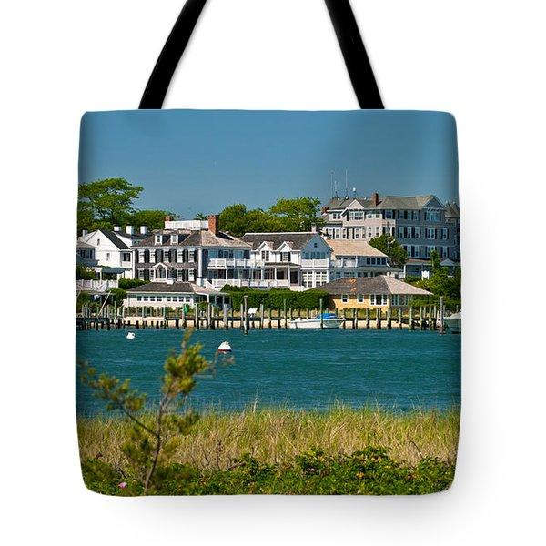 Edgartown Harbor Marthas Vineyard Massachusetts Tote Bag by Michelle Wiarda