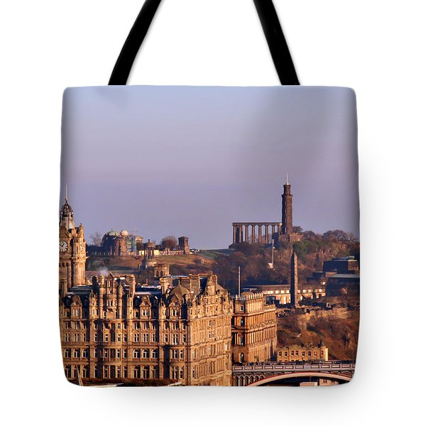 Edinburgh Scotland - A Top-Class European City Tote Bag by Christine Till