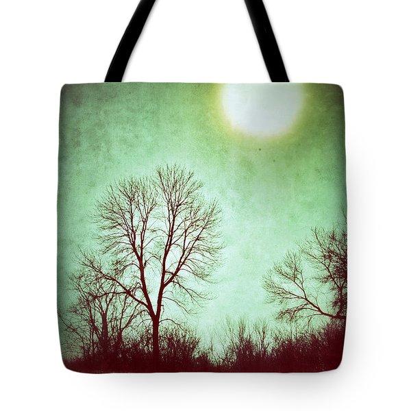 Eerie Landscape Tote Bag by Jill Battaglia