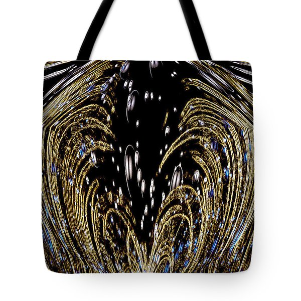 Effervescent Golden Arches Abstract Tote Bag by Carolyn Marshall